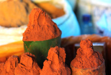 Berbere spice mix on offer at the market.