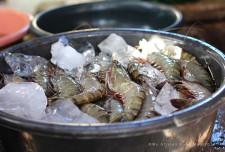 Humongous prawns.