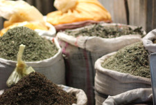 Various dried herbs at Shola Market in Addis.